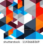 multicolored triangles abstract ... | Shutterstock .eps vector #1143668369