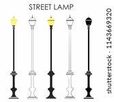 street classic lamp | Shutterstock .eps vector #1143669320