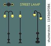 street lamp colored | Shutterstock .eps vector #1143669386