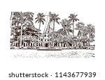 landmark and building view of...   Shutterstock .eps vector #1143677939