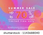 summer sale banner.unique... | Shutterstock .eps vector #1143688040