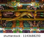 ancient hindu pathirakali amman ... | Shutterstock . vector #1143688250