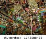 ancient hindu pathirakali amman ... | Shutterstock . vector #1143688436