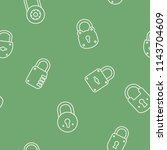seamless pattern with lock... | Shutterstock .eps vector #1143704609