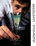 bartender pouring strong... | Shutterstock . vector #1143705599