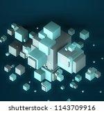 3d illustration. web modern... | Shutterstock . vector #1143709916
