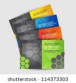 brochure design set | Shutterstock .eps vector #114373303