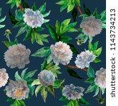 seamless pattern. watercolor... | Shutterstock . vector #1143734213