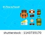 traveler's accessories.... | Shutterstock .eps vector #1143735170
