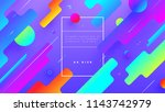 abstract liquid trendy shapes.... | Shutterstock .eps vector #1143742979