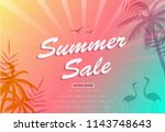 summer sale poster background.... | Shutterstock .eps vector #1143748643