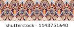 ikat geometric folklore... | Shutterstock .eps vector #1143751640