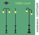 street lamp | Shutterstock .eps vector #1143751649