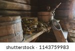 old traditional finish sauna. | Shutterstock . vector #1143759983