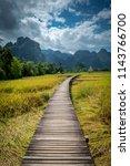 vangvieng laos  landscape of...   Shutterstock . vector #1143766700