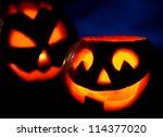 scary halloween pumpkins jack o ... | Shutterstock . vector #114377020