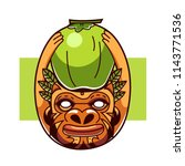 Eethnic People With Coconut