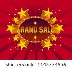 grand sale  beautiful greeting...   Shutterstock .eps vector #1143774956