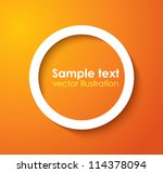 white frame with shadow | Shutterstock .eps vector #114378094