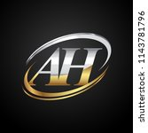 initial letter ah logotype... | Shutterstock .eps vector #1143781796