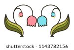 a couple of bell flower is face ... | Shutterstock .eps vector #1143782156