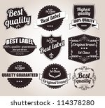 collection of retro vintage... | Shutterstock .eps vector #114378280