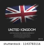 united kingdom flag made of... | Shutterstock .eps vector #1143783116