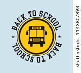 text back to school.  | Shutterstock .eps vector #1143807893