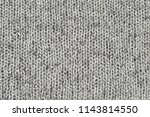 rough woolen grey knit texture... | Shutterstock . vector #1143814550