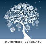 christmas tree | Shutterstock .eps vector #114381460