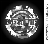 genuine on grey camouflage... | Shutterstock .eps vector #1143826619