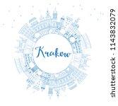 outline krakow poland city... | Shutterstock . vector #1143832079