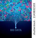 big data futuristic science... | Shutterstock . vector #1143832103