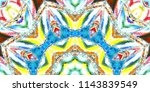 melting colorful pattern for... | Shutterstock . vector #1143839549
