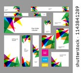 web banners set with colorful... | Shutterstock .eps vector #1143841289