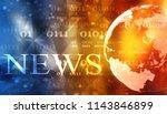 words news on digital...   Shutterstock . vector #1143846899