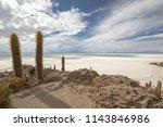 salar de uyuni is the world's... | Shutterstock . vector #1143846986