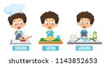 vector illustration of kid... | Shutterstock .eps vector #1143852653