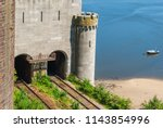 entrance to the railway tunnel... | Shutterstock . vector #1143854996