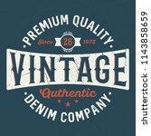 premium quality denim company   ... | Shutterstock .eps vector #1143858659