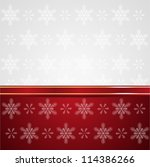 xmas background with snowflakes ... | Shutterstock .eps vector #114386266