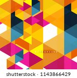 multicolored triangles abstract ... | Shutterstock .eps vector #1143866429