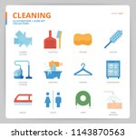 cleaning icon set | Shutterstock .eps vector #1143870563