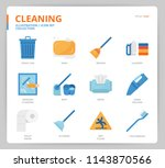 cleaning icon set | Shutterstock .eps vector #1143870566