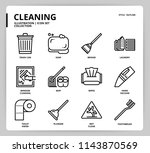 cleaning icon set | Shutterstock .eps vector #1143870569