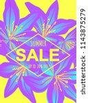 summer sale poster. discount...   Shutterstock .eps vector #1143875279