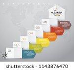 6 steps arrow infographic...   Shutterstock .eps vector #1143876470