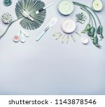 skin care cosmetic and homemade ... | Shutterstock . vector #1143878546