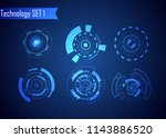 set of circle abstract digital... | Shutterstock .eps vector #1143886520