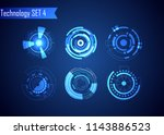 set of circle abstract digital...   Shutterstock .eps vector #1143886523